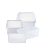 Rectangular & Square Tamper Evident Packaging - Natural